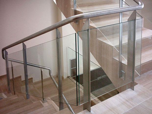 Barandillas de acero y cristal vidreglass - Barandilla cristal escalera ...